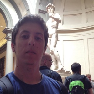 Selfie com o David de Michelangelo