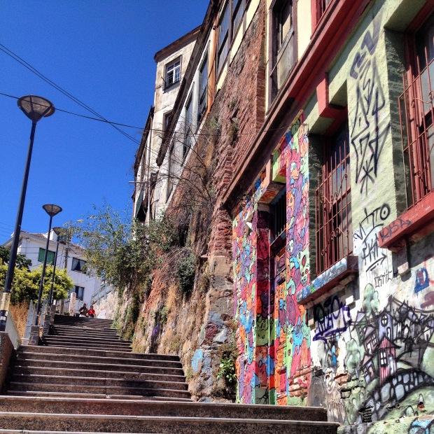Escadarias em Valparaiso