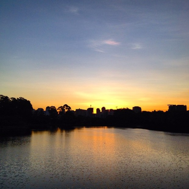 Por do sol no Parque do Ibirapuera