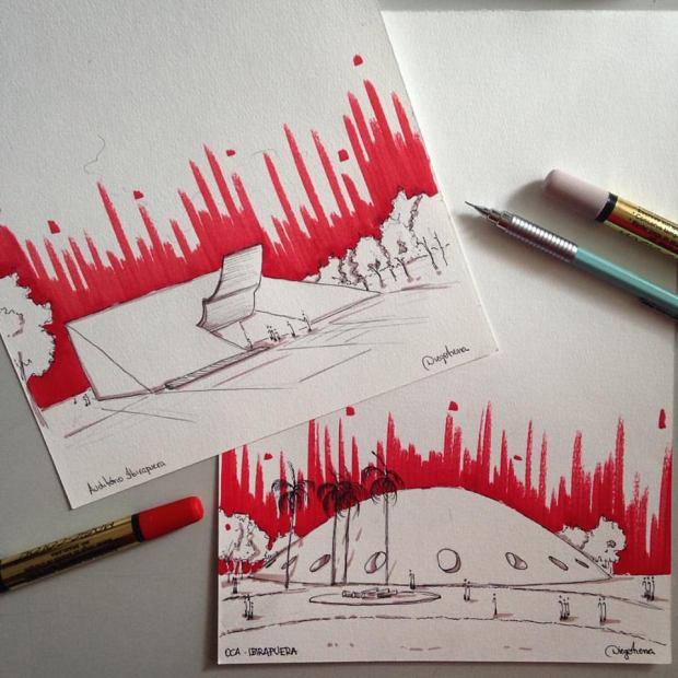 Sketch Auditório e OCA